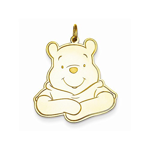 Perfect Jewelry Gift Gold-Plated Ss Disney Winnie The Pooh Charm