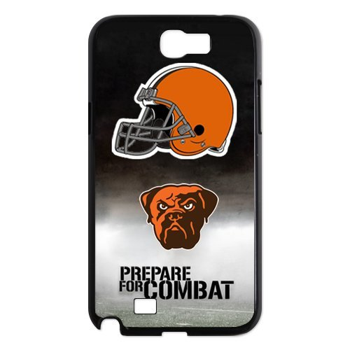 NFL Cleveland Browns Team For Samsung Note2 7100 Black or White Durable Plastic Case-Creative New Life at Amazon.com