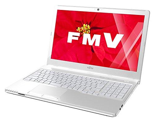 富士通 ノートパソコン FMV LIFEBOOK AHシリーズ WA2/W(Windows 10/15.6型ワイド/Core i7/8GBメモリ/約1TB HDD/Office Home and Business Premium/アーバンホワイト)FMVWWA27W_Z514