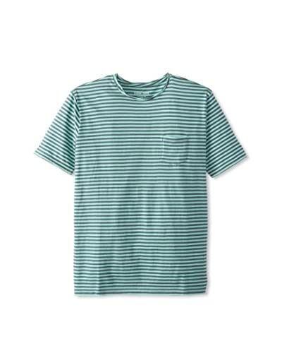 Color Siete Men's Striped Rolled Crew Neck T-Shirt