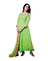 Zerel Women Georgette Dress Material (Ze-759 _Green)