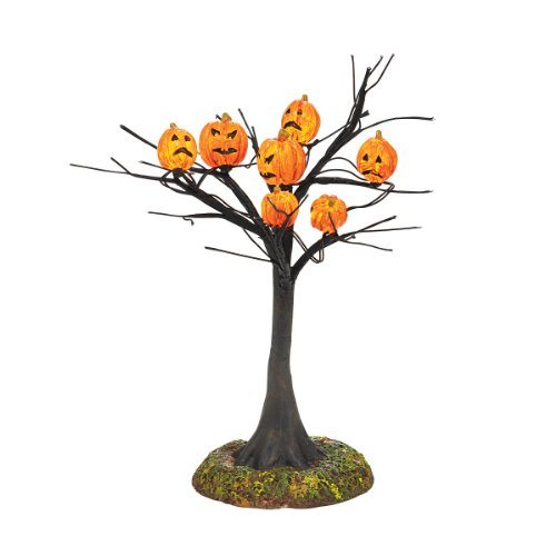 Department 56 Halloween Accessories Village Scary Pumpkins Lit Tree, 5.51-Inch