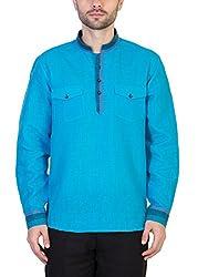 Desam Men's Linen Kurta Blue 39