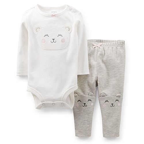 Carter'S Baby Girls' Ute & Comfy Set (Baby) - Ivory - Bear - Newborn front-134181