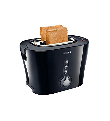 Philips HD2630/20 Viva Collection 1000-wattSandwich Pop-Up Toaster (Black/Silver)