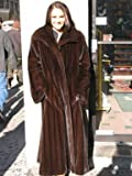 ELEGANT NEW MAHOGANY MINK FUR COAT sz12 #10846