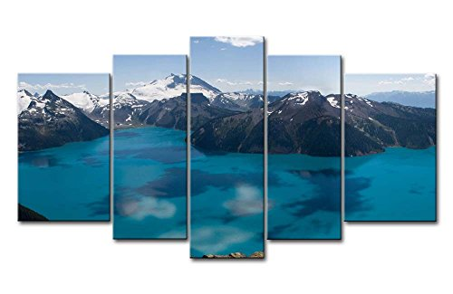 Blue 5 Piece Wall Art Painting Garibaldi Lake Canada Snow Mountain Pictures Prints On Canvas Landscape The Picture Decor Oil For Home Modern Decoration Print For Kitchen