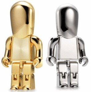 Cool metal Robot 16 GB USB Flash Drive - Silver