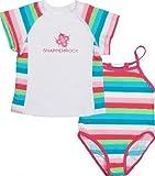Snapper Rock Girl's UV Swimset Swimsuit and Swim Shirt