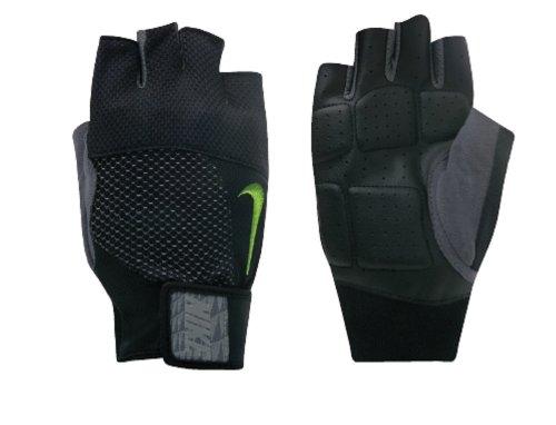 Nike Mens Lock Down Training Gloves (Black/Volt, Small) [Sports]