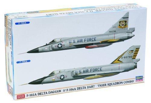 F-102A Delta Daggar & F-106A Delta Dart `Tiger Squadron Combo by HASEGAWA by Hasegawa günstig
