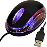 Daffodil WMS106 Wired Mini Optical Mouse - 3 Button PC Mouse with Scrollwheel and Internal LED Light - For Laptop...
