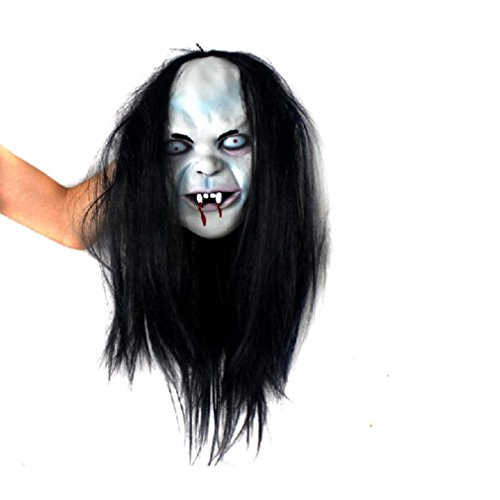 [Koolee Latex Creepy Scary Ghost Mask Halloween Mask with Scary Emulsion Skin and Hair] (Jeepers Creepers 2 Costume)