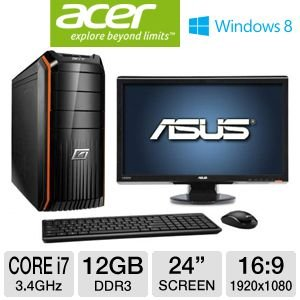 Acer Predator G3 Core i7 2TB HDD Desktop Bundle