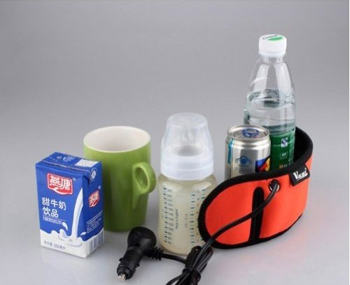 Car Baby Travel Bottle Warmer Heater For Heating Milk Water Drinks DC 12V 22W Highest Temperature 95 ℃