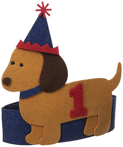Mud Pie Baby-Boys Infant Puppy Birthday Hat, Blue, One Size - 1