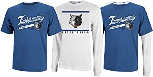 Minnesota Timberwolves NBA 2013 Adidas 3 in 1 T-Shirt Combo - 2 Shirts by adidas