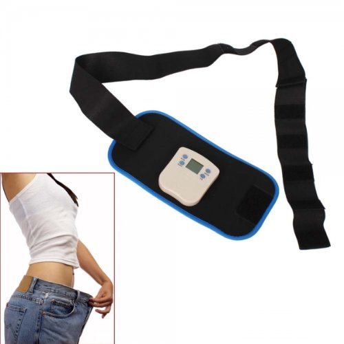 2 In 1 Body Muscle Toning Massager Fitness Belt Black (2 Aaa Batteries) By Preciastore