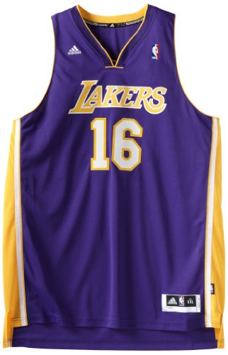 NBA Los Angeles Lakers Pau Gasol Swingman Jersey, Purple, Large adidas Jerseys autotags B00401YGZA
