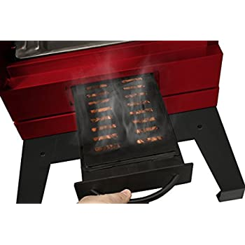 Smoke Hollow D4015RS40-InchDigital Electric Smoker with Smoke-Tronix Bluetooth Technology, Stand Included, Red