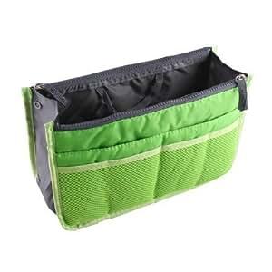 NOV@GO® (version originale qualité assurée) Organisateur/Pochette/sac de rangement intérieur VERT pour grand sac à main ou sac de voyage (existe aussi en Orange/rouge/vert/bleu ans notre boutique)