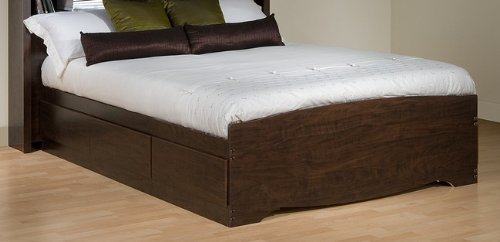 Full Size Platform Storage Bed in Espresso Finish - Prepac Furniture