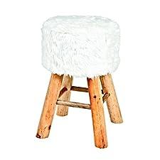 Haku Möbel 30363 taburete de madera, 49 x 32 cm, colour blanco