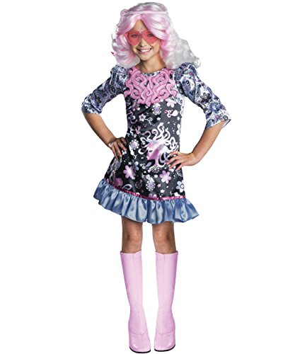 Child's Girls Monster High Viperine Gorgon Costume And Wig Bundle