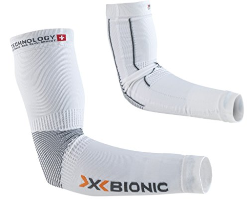 X-Bionic adulto funzione abbigliamento Biking OW Arm Warmer Light DX SX No Seam, Unisex, Funktionsbekleidung Biking OW Arm Warmer Light DX SX No Seam, Bianco / antracite, L/XL