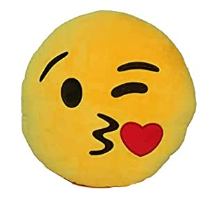 Amazon.com - Emoji Comfort Emoji Smiley Round Yellow Emoticon Cushion