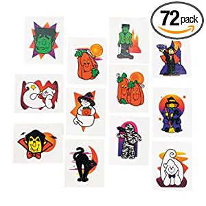72 halloween glitter tattoos