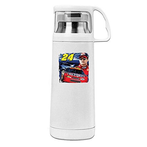 VADMO Jeff Gordon Stock Car Racing Driver Transparent Cover Vacuum Cup White