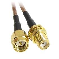 "12.4"" SMA male Plug to SMA female Jack RF Coaxial Coax pigtail Cable"