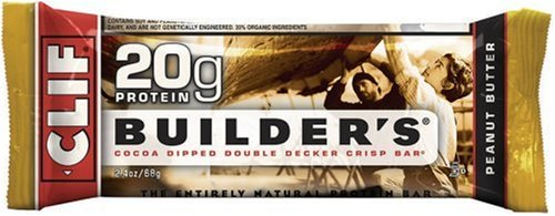 Clif Bar Builder's Bar, Chocolate Peanut Butter, 2.4-Ounce Bars, Pack of 12