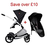 Phil & Teds Promenade Buggy Black + Promenade Double Kit Black
