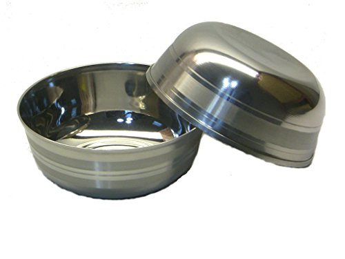 Qualways Stainless Steel 7 Oz Bowls Set Of 2, Stainless Steel Toddler Dish Set (Stainless Steel Childrens Bowl compare prices)
