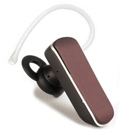 Glcon G-06 Matt Coffee Mini Stereo Wireless Bluetooth Bt Headset Headphone Earphone Earpiece, With Dual Pairing, Noise Cancellation,Echo Cancellation, Easy Wheel Knob Remote Volume Control, And With Microphone Mic, Slave Earbud For Apple Iphone 6/6 Plus/5