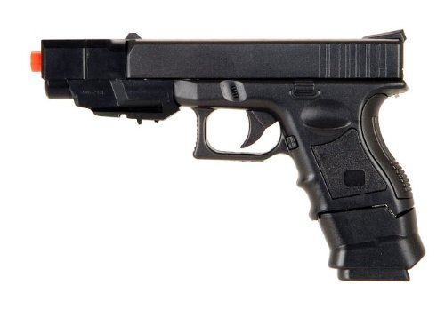 New Airsoft Spring Pistol P698+One gun with Changeable Style Comes with 2 8 Round Clips / Magazines