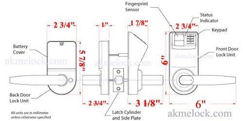 Adel Keyless Biometric Fingerprint Door Lock Trinity 788