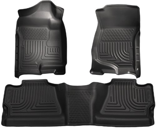 Husky Liners Custom Fit Front and Second Seat Floor Liner Set for Select Chevrolet Silverado/GMC Sierra Models (Black)