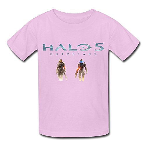 [QMY Kid's Sports Halo 5 Guardians T-shirts Size XL Pink] (Halo Spartan Suit For Sale)