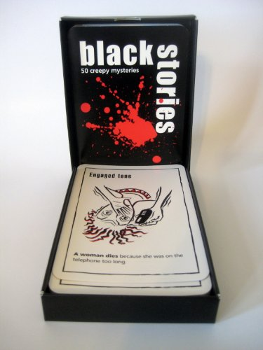 Black Stories Mysteries Game - U.S. Edition Perfect Party Game for 2 - 15 Players (For Ages 14 and Up)