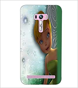 PrintDhaba Cute Girl D-2283 Back Case Cover for ASUS ZENFONE SELFIE ZD551KL (Multi-Coloured)