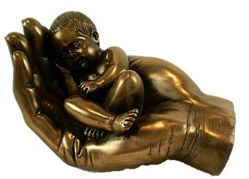 LITTLE HANDFUL ~ Bronze Effect Baby Gift Idea ~ Christening Keepsake Present NEW!