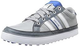 adidas Men\'s Adicross IV WD Golf Shoe, Light Onix/FTW White,11.5 W US