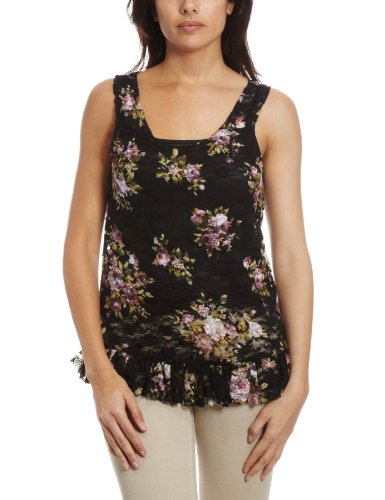 Yumi Numa Floral Lace Women's Top Black Small