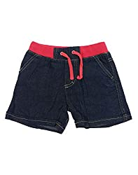 Snoby Girls shorts- pink waist elastic(SBY1003)
