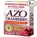 AZO All Natural Concentrated Cranberry Tablets, 50 Count by AZO
