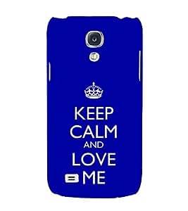 EPICCASE love me like you do Mobile Back Case Cover For Samsung Galaxy S4 Mini (Designer Case)