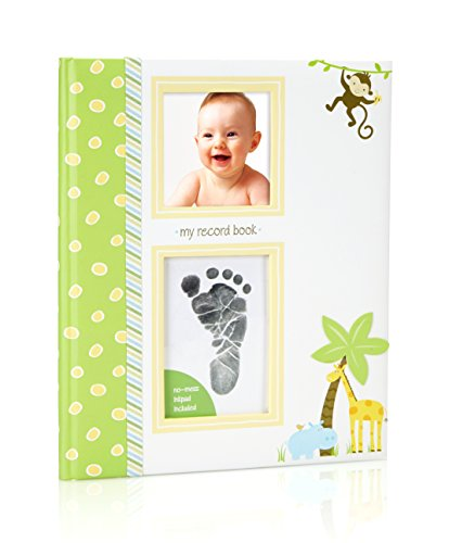 Lil' Peach Safari Babybook with Clean-Touch Ink Pad Included